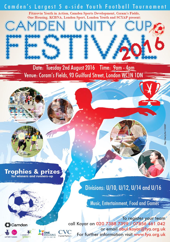 Camden Unity Cup Flyer 2016