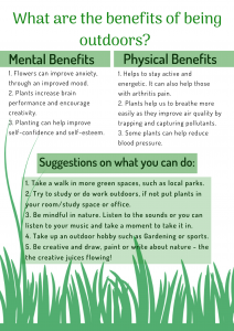 Tips for wellbeing - Outdoors leaflet back